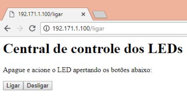 nodemcu comandando led pelo web server