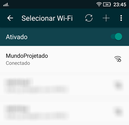 Access Point na lista de WiFis