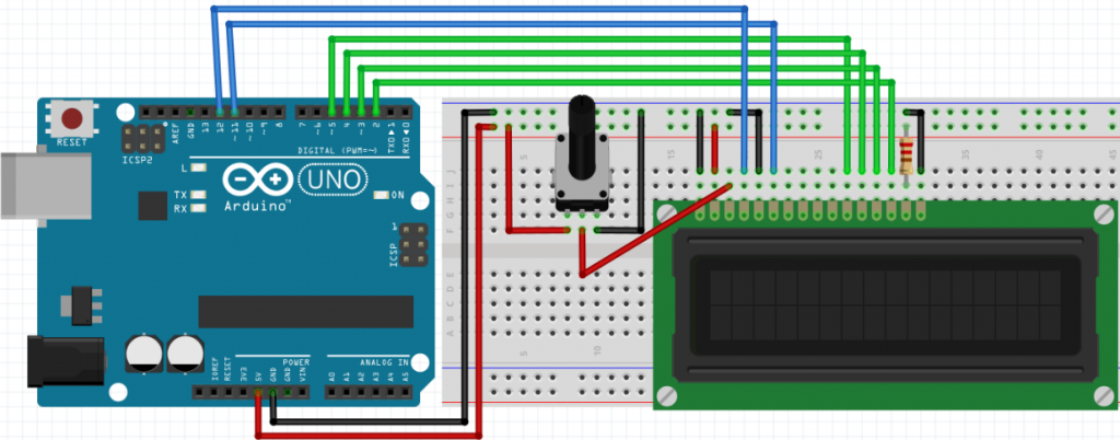 circuito display lcd