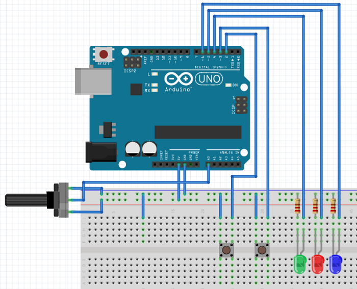 Circuito joystick sem resistor