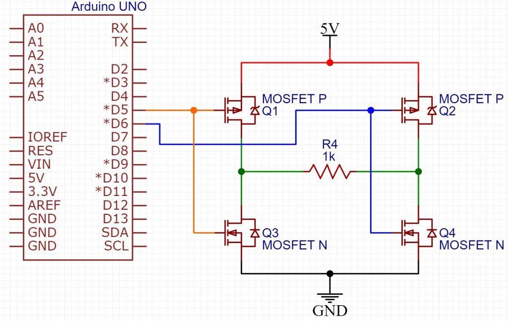 Inversor de tensão PWM com Arduino