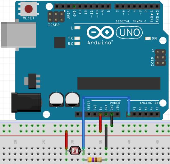 LDR com Arduino