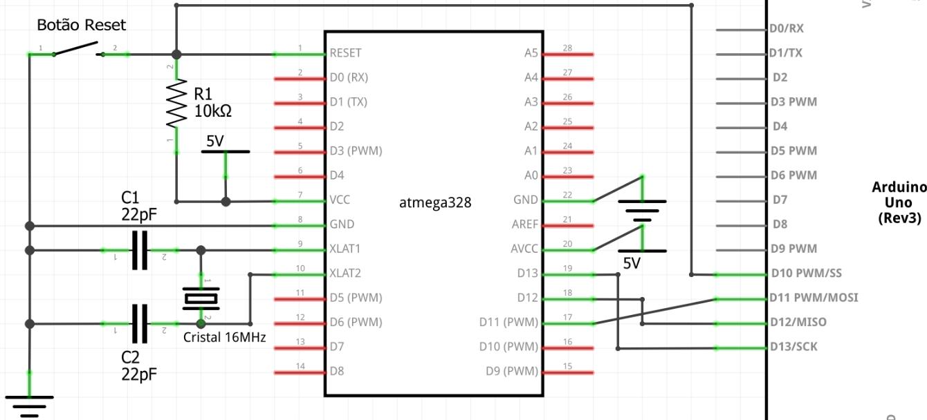 Instalando bootloader no atmega328p