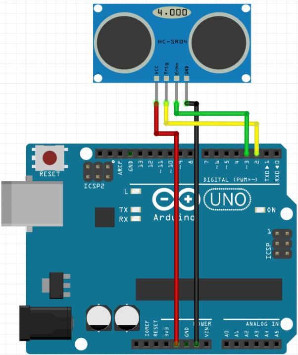 circuito sensor ultrassônico