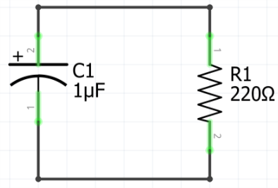Circuito capacitor descarregando