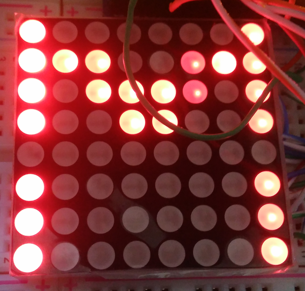 matriz de led letra m