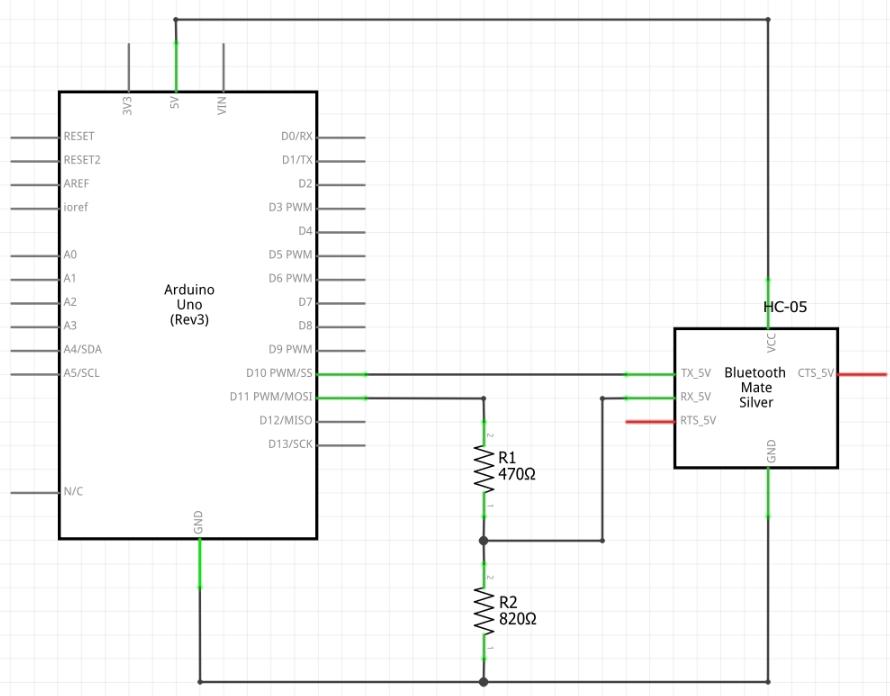 Esquemático circuito HC-05