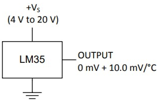 LM35 ligação simples