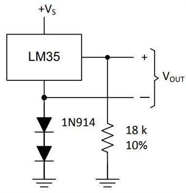 LM35 ligação com terra elevado