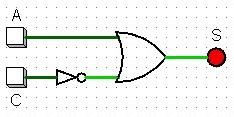 Circuito combinacional simplificado com álgebra booleana
