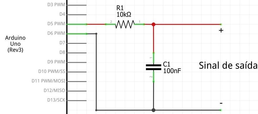 Circuito para filtrar sinal pwm