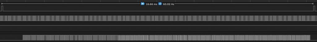 VGA sinal real do sincronismo vertical e horizontal