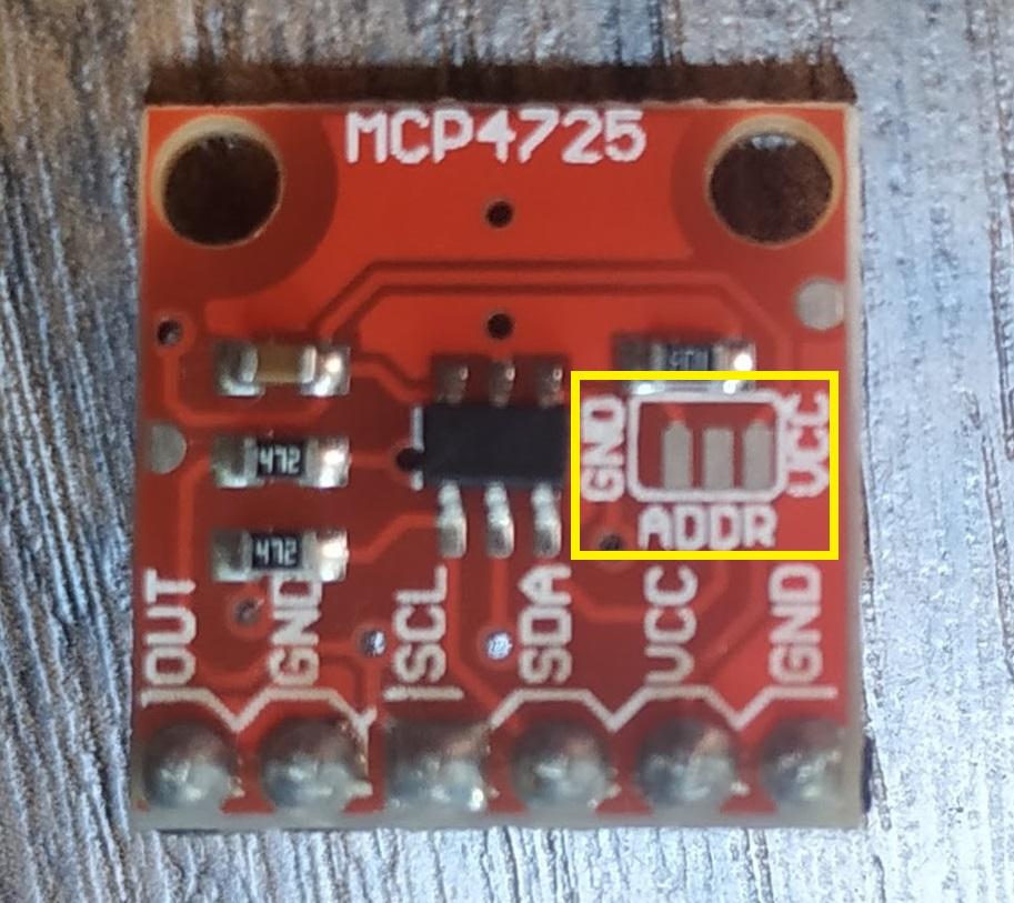 Configurando o endereço do MCP4725
