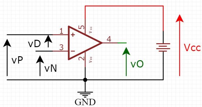 Amplificador operacional com fonte simples