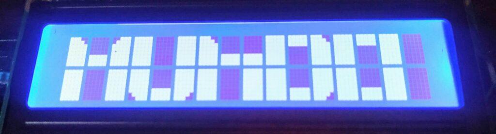Display 16x2 com fonte grande